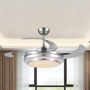 LEDシーリングファンライト 照明器具 リビング照明 ダイニング照明 オシャレ 3階段調色 LED対応 リモコン付 QM30011