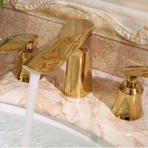 洗面蛇口 バス水栓 冷熱混合栓 手洗器蛇口 水栓金具 2ハンドル 3点 HAY