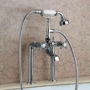 浴槽水栓 シャワー混合栓 浴室蛇口 ハンドシャワー付 水道蛇口 2色