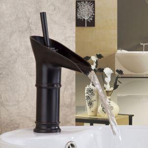 洗面蛇口 バス水栓 冷熱混合栓 水道蛇口 水栓金具 杯型 ORB H24cm