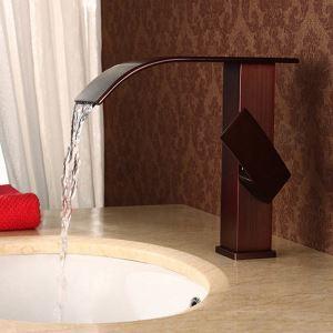 洗面蛇口 バス水栓 冷熱混合栓 水道蛇口 水栓金具 滝状吐水式 ORB