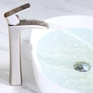 洗面蛇口 バス水栓 冷熱混合栓 ボール用蛇口 水道蛇口 水栓金具 ヘアライン/黒色
