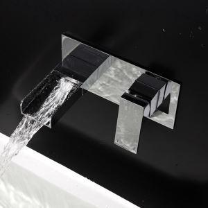 壁付水栓 バス蛇口 洗面水栓 冷熱混合栓 手洗い器蛇口 水道蛇口 水栓金具 クロム