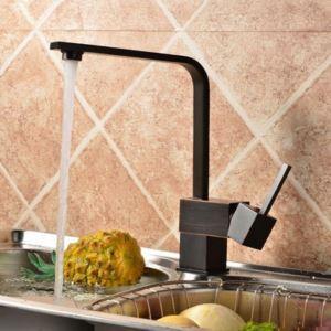 キッチン蛇口 台所蛇口 冷熱混合栓 水道蛇口 水栓金具 回転可能 7字型 ORB
