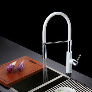 キッチン水栓 台所蛇口 冷熱混合栓 水道蛇口 水栓金具 回転可能 2色