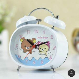 時計 置き時計 静音時計 クロック 金属 現代的 可愛い 子供屋  インテリア N303