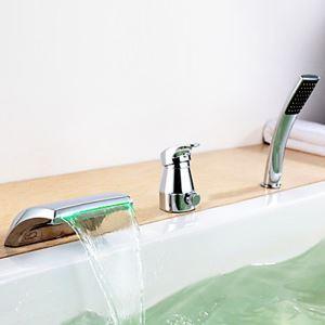 浴槽水栓 バス蛇口 シャワー混合栓 浴室水栓 ハンドシャワー付 水道蛇口 水流発電 3点 クロム