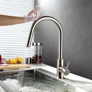 タッチレス水栓 キッチン蛇口 台所水栓 引出し式水栓 冷熱混合栓 水栓金具
