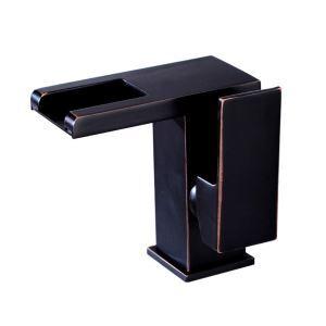LED洗面蛇口 バス水栓 冷熱混合栓 水道蛇口 水栓金具 水流発電 ORB H13.5cm