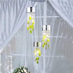 ペンダントライト 天井照明 照明器具 食卓照明 オシャレ照明 緑クリスタル 9灯