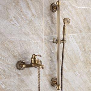 浴室シャワー水栓 ハンドシャワー バス混合栓 スライドバー&蛇口付き 2色