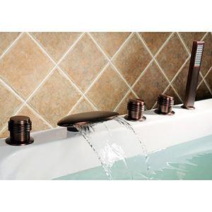 浴槽水栓 バス蛇口 シャワー混合栓 浴室水栓 ハンドシャワー付 水道蛇口 5点 ORB