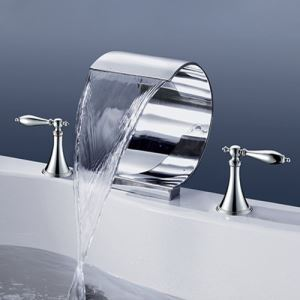 洗面蛇口 バス水栓 冷熱混合栓 手洗器蛇口 浴槽水栓 水道蛇口 2ハンドル 3点 クロム