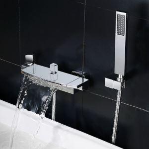 浴室シャワー水栓 バス水栓 ハンドシャワー 混合水栓 水道蛇口 風呂用 クロム/黒色