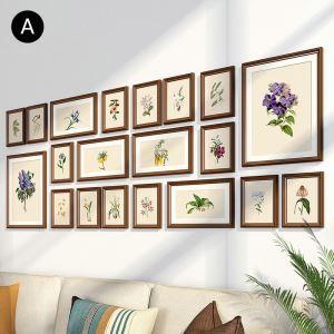 壁掛けフォトフレーム 写真立てセット 額縁 フォトデコレーション 木製 20個セット YO1220