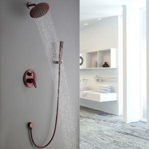 埋込形シャワー水栓 レインシャワーシステム バス水栓 ヘッドシャワー+ハンドシャワー 混合栓 水道蛇口 ORB
