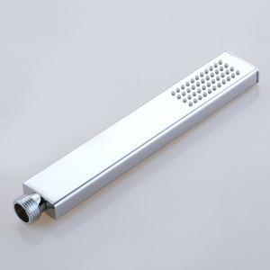 ハンドシャワー シャワー部品 真鍮 方形 クロム