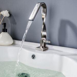 洗面蛇口 バス水栓 冷熱混合栓 手洗器蛇口 水道蛇口 水栓金具 ヘアライン
