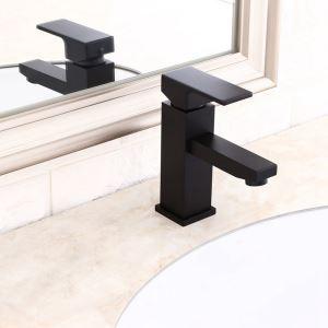 洗面蛇口 バス水栓 冷熱混合栓 手洗器蛇口 水道蛇口 水栓金具 黒色