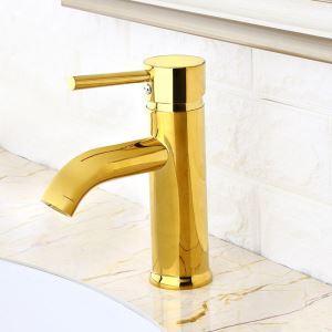 洗面蛇口 バス水栓 冷熱混合栓 手洗器蛇口 水道蛇口 水栓金具 金色