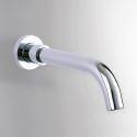 壁付水栓 洗面蛇口 注ぎ口 水栓金具 360°回転 真鍮製 クロム(ハンドル無し)