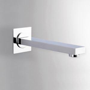 壁付水栓 洗面蛇口 注ぎ口 水栓金具 真鍮製 クロム(ハンドル無し)
