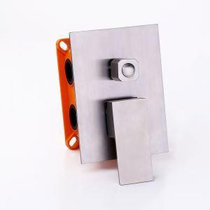 シャワーバルブ 埋込形バルブ スイッチ部品 シャワー水栓用 3機能3吐水口 ヘアライン