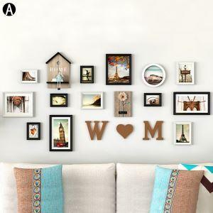 壁掛けフォトフレーム 写真立てセット 額縁 フォトデコレーション 木製 13個セット YMQZPQ13XW
