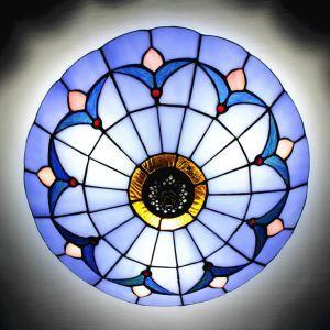 ティファニーライト シーリングライト ステンドグラスランプ 天井照明 2灯 BEH404204