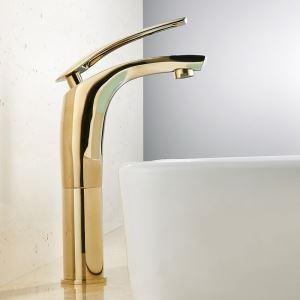 洗面蛇口 バス水栓 冷熱混合栓 水道蛇口 水栓金具 5色 H24cm