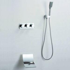 埋込形シャワー水栓 ハンドシャワー 浴槽蛇口 バス水栓 混合栓 滝状吐水口 クロム