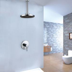 埋込形シャワー水栓 ヘッドシャワー バス水栓 レインシャワーヘッド 混合栓 水道蛇口 クロム
