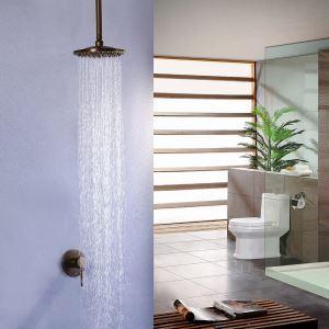 埋込形シャワー水栓 ヘッドシャワー バス水栓 レインシャワーヘッド 混合栓 水道蛇口 ブラス