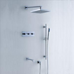 埋込形シャワー水栓 レインシャワーシステム ヘッドシャワー+ハンドシャワー+蛇口 バス水栓 混合栓 クロム