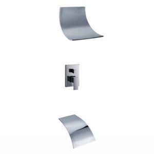 埋込形シャワー水栓 ヘッドシャワー バス水栓 浴槽蛇口 混合栓 滝状吐水口 クロム