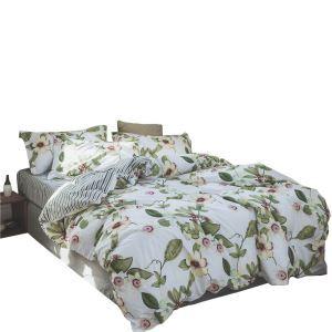 布団セット 掛け布団カバー ボックスシーツ まくらカバー 寝具カバー 敷き布団 ふとん ベッドシーツ 捺染 純綿 花柄 4点セット