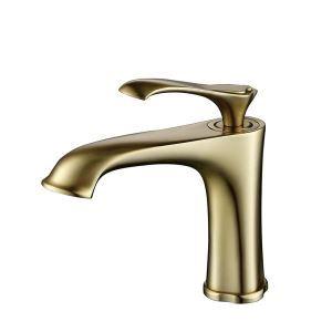 洗面蛇口 バス水栓 冷熱混合栓 立水栓 水道蛇口 金色