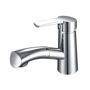 洗面蛇口 スプレー混合栓 洗髪用水栓 ホース引出式 水道蛇口 立水栓 クロム