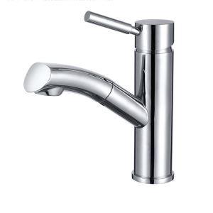 洗面蛇口 スプレー混合栓 洗髪用水栓 ホース引出式 水道蛇口 シンク用蛇口 クロム