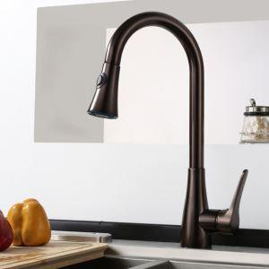キッチン蛇口 引出し式水栓 台所蛇口 冷熱混合栓 整流&シャワー吐水式 ORB