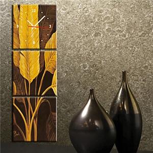 壁掛け時計 壁絵画時計 静音時計 壁飾り オシャレ 3枚パネル K0063