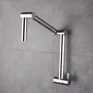 壁付水栓 キッチン蛇口 単水栓 台所蛇口 折畳み式 クロム
