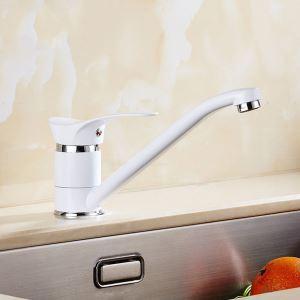 キッチン蛇口 台所蛇口 冷熱混合栓 シンク用水栓 水道蛇口 白色