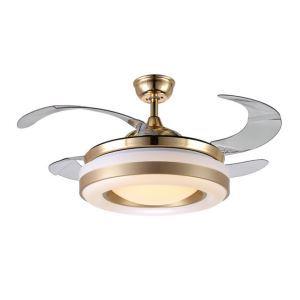 LEDシーリングファンライト シャンデリア 照明器具 天井照明 リビング照明 オシャレ LED対応 リモコン付 QM20061