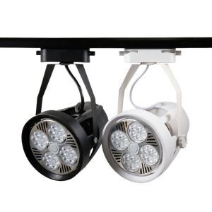 スポットライト ダクトレール用照明 照明器具 店舗照明 玄関照明 回転可能 黒白色 簡単取付