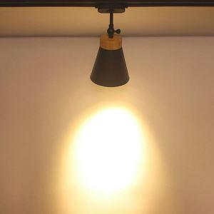 スポットライト ダクトレール用照明 シーリングライト 玄関照明 店舗照明 黒白色 簡単取付