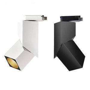 LEDスポットライト ダクトレール用照明 LEDシーリングライト 玄関照明 店舗照明 LED対応 方形 黒白色 簡単取付