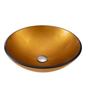 洗面ボール 手洗い鉢 洗面器 手洗器 洗面ボウル 洗面鉢 ガラス 排水金具付 オシャレ 丸型 BWY17167