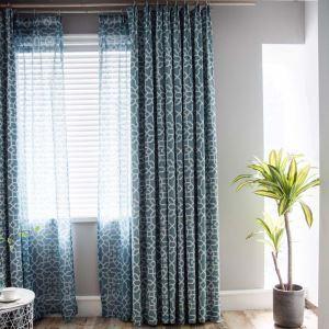 遮光カーテン オーダーカーテン オシャレ 創意 幾何柄 捺染 3級遮熱カーテン(1枚)