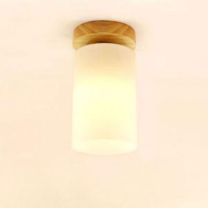シーリングライト 玄関照明 照明器具 天井照明 廊下 和室和風 円筒型 6畳 ガラス JPL A206